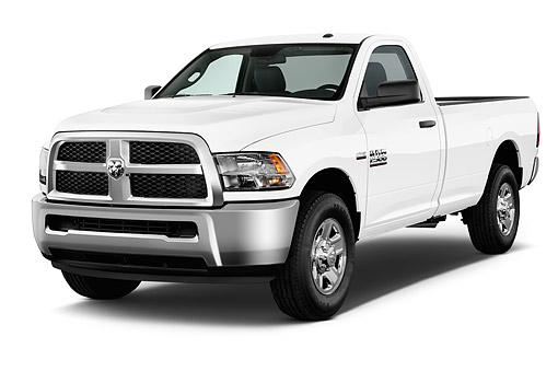 AUT 14 IZ2050 01 © Kimball Stock 2014 Ram 2500 Tradesman Regular Cab SWB 2-Door Truck 3/4 Front View In Studio