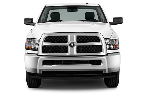 AUT 14 IZ2053 01 © Kimball Stock 2014 Ram 2500 Tradesman Regular Cab SWB 2-Door Truck Front View In Studio