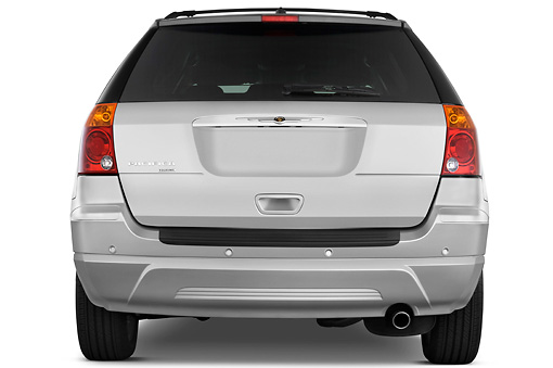 AUT 15 IZ0682 01 © Kimball Stock 2009 Chrysler Pacifica Touring Silver Rear View Studio