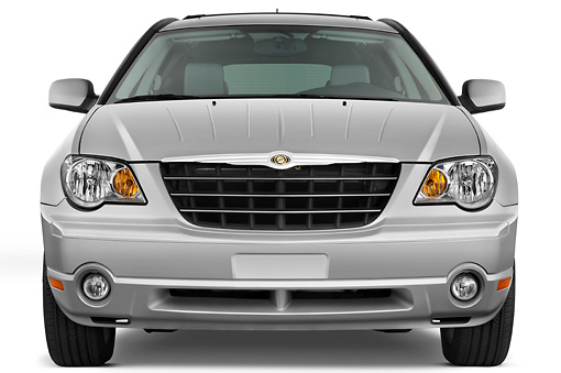 AUT 15 IZ0683 01 © Kimball Stock 2009 Chrysler Pacifica Touring Silver Front View Studio