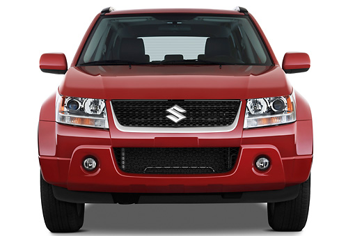 AUT 15 IZ0707 01 © Kimball Stock 2010 Suzuki Grand Vitara Red Front View Studio