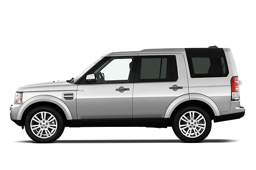 AUT 15 IZ0815 01 © Kimball Stock 2013 Land Rover LR4 Silver Profile View On White Seamless