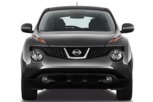 AUT 15 IZ0848 01 © Kimball Stock 2013 Nissan Juke SV SUV Gray Front View On White Seamless
