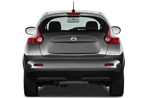 AUT 15 IZ0849 01 © Kimball Stock 2013 Nissan Juke SV SUV Gray Rear View On White Seamless
