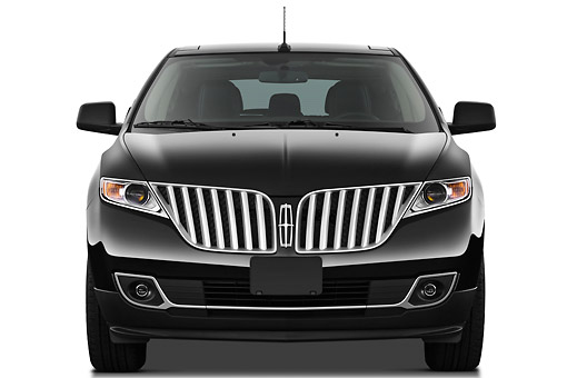 AUT 15 IZ0928 01 © Kimball Stock 2011 Lincoln MKX Black Front View On White Seamless