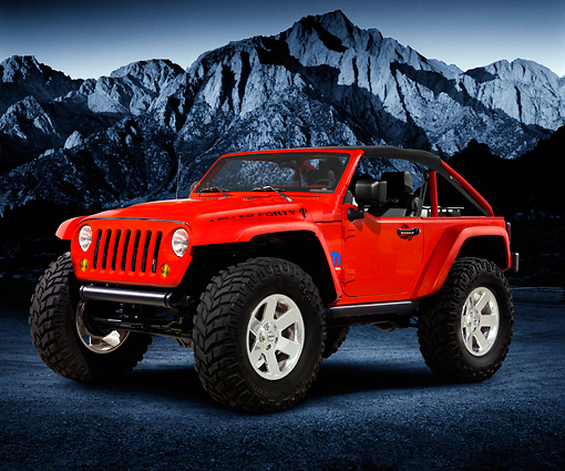 AUT 15 RK1223 01 © Kimball Stock Jeep Lower Forty Concept In Studio With Mountain Background