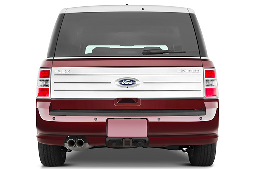AUT 15 IZ0094 01 © Kimball Stock 2010 Ford Flex Limited Cinnamon/White Rear View Studio