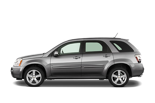 AUT 15 IZ0103 01 © Kimball Stock 2008 Chevrolet Equinox Gray Profile View Studio