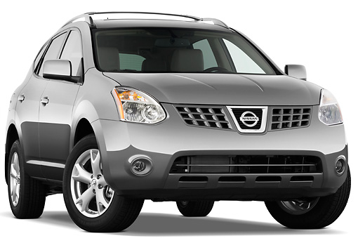 AUT 15 IZ0598 01 © Kimball Stock 2010 Nissan Rogue SL Gray 3/4 Front View Studio