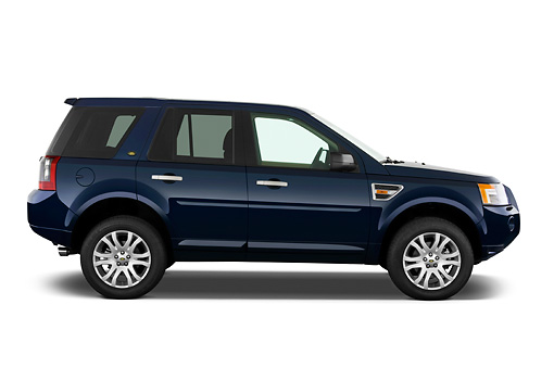 AUT 15 IZ0654 01 © Kimball Stock 2010 Land Rover LR2 HSE Blue Profile View Studio