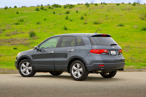 AUT 15 RK1089 01 © Kimball Stock 2007 Acura RDX Tech Turbo Gray 3/4 Rear View On Pavement