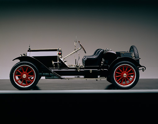 AUT 17 RK0014 01 © Kimball Stock 1914 Stutz Bearcat Black Profile View Studio