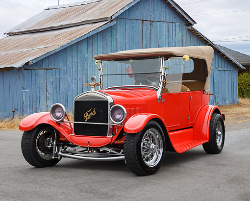 AUT 18 RK0836 01 © Kimball Stock 1927 Ford Touring