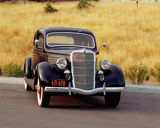 AUT 19 RK0515 02 © Kimball Stock 1935 Ford Coupe Black