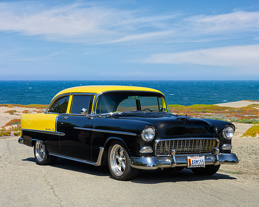 Chevy And Bel Air And 1955 Car Stock Photos Kimballstock