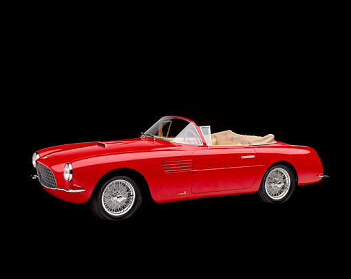 AUT 21 RK0523 12 © Kimball Stock 1954 Fiat Vignale 8V Spider 3/4 Front View Studio