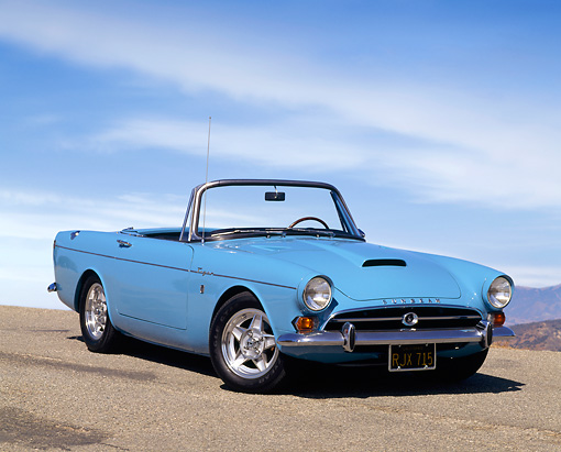 AUT 22 RK0285 01 © Kimball Stock 1965 Sunbeam Tiger Convertible.