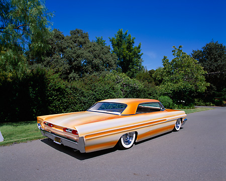 AUT 22 RK1805 01 © Kimball Stock 1962 Pontiac Grand Prix Custom Orange