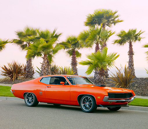 Aut  Kimball Stock  Ford Torino Gt Orange   Front