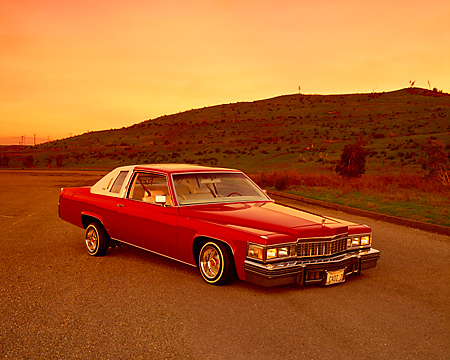AUT 23 RK0720 05 © Kimball Stock 1977 Cadillac Coupe de Ville