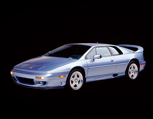 AUT 25 RK0351 01 © Kimball Stock 1995 Lotus Esprit S4S Silver 3/4 Side View Studio