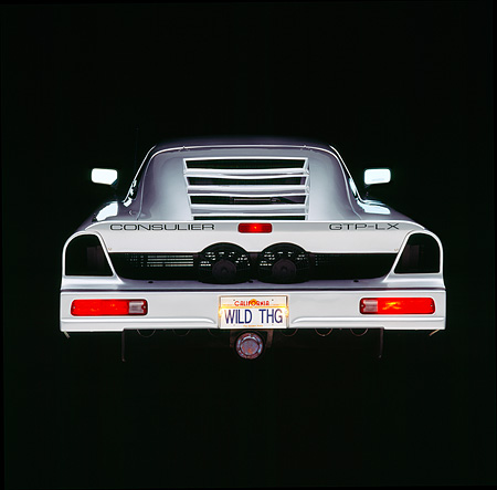 AUT 25 RK0528 09 © Kimball Stock 1990 Consulier GTP Silver Rear Shot Studio
