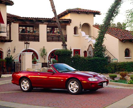 1997 Jaguar XK8 Convertible Red 3/4 Side View By Spanish