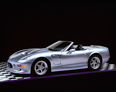 AUT 25 RK1122 07 © Kimball Stock 1999 Shelby Series 1 Convertible Silver