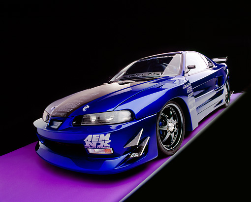 AUT 25 RK1384 04 © Kimball Stock 1995 JDM Honda Prelude Si Vtech Custom Fabrication Aero Kit 3/4 Front View Studio