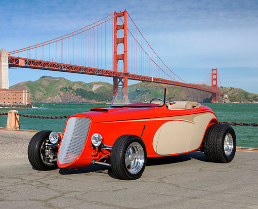 AUT 26 RK3451 01 © Kimball Stock 1933 Ford Roadster