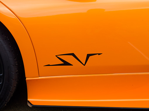 AUT 30 BK0020 01 © Kimball Stock 2010 Lamborghini Murci�lago LP670-4 SV Orange Side Detail