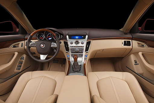 AUT 30 BK0098 01 © Kimball Stock 2012 Cadillac CTS Interior Detail In Studio