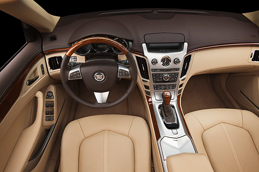 AUT 30 BK0099 01 © Kimball Stock 2012 Cadillac CTS Interior Detail In Studio