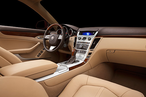 AUT 30 BK0102 01 © Kimball Stock 2012 Cadillac CTS Interior Detail In Studio