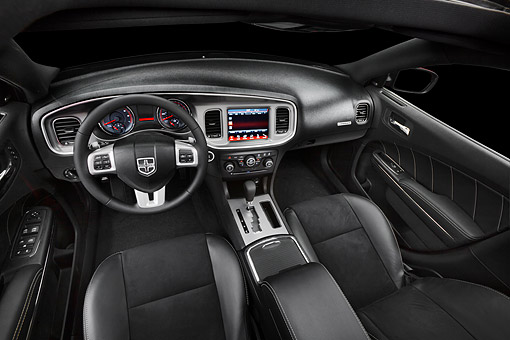 AUT 30 BK0104 01 © Kimball Stock 2012 Dodge Charger Interior Detail In Studio