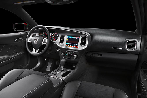 AUT 30 BK0106 01 © Kimball Stock 2012 Dodge Charger Interior Detail In Studio