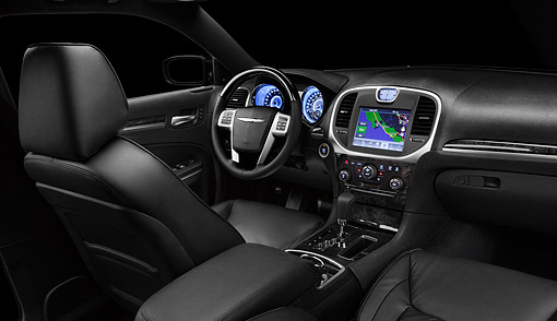 AUT 30 BK0112 01 © Kimball Stock 2012 Chrysler 300C Interior Detail In Studio