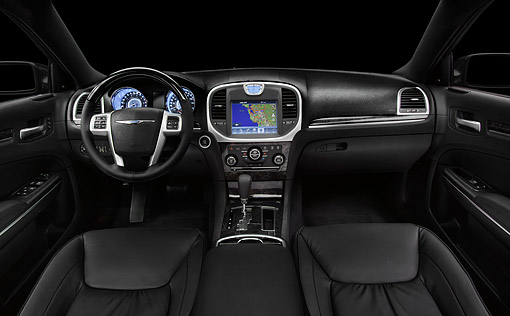 AUT 30 BK0113 01 © Kimball Stock 2012 Chrysler 300C Interior Detail In Studio