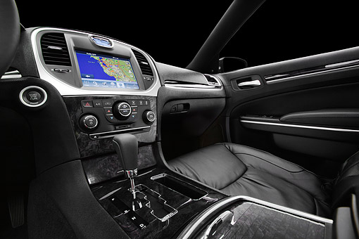 AUT 30 BK0114 01 © Kimball Stock 2012 Chrysler 300C Interior Detail In Studio