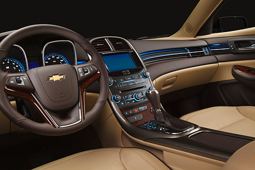 AUT 30 BK0134 01 © Kimball Stock 2013 Chevrolet Malibu Eco Interior Detail In Studio
