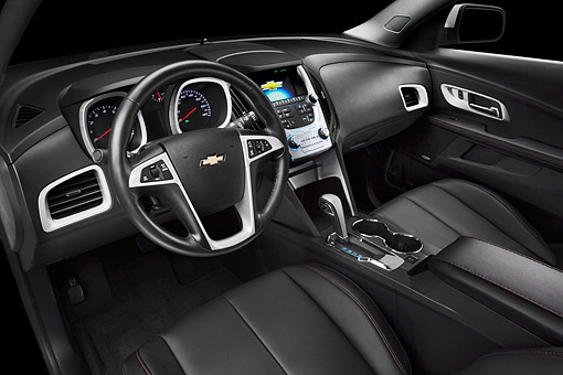 AUT 30 BK0135 01 © Kimball Stock 2012 Chevrolet Equinox Interior Detail In Studio