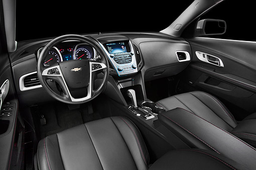 AUT 30 BK0136 01 © Kimball Stock 2012 Chevrolet Equinox Interior Detail In Studio