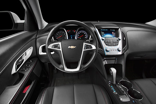 AUT 30 BK0137 01 © Kimball Stock 2012 Chevrolet Equinox Interior Detail In Studio