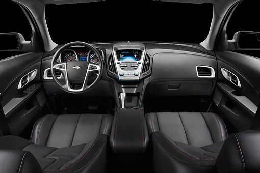 AUT 30 BK0138 01 © Kimball Stock 2012 Chevrolet Equinox Interior Detail In Studio