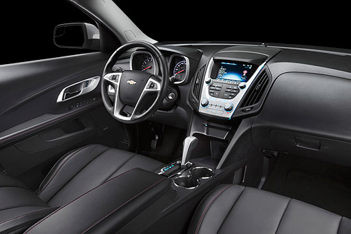 AUT 30 BK0139 01 © Kimball Stock 2012 Chevrolet Equinox Interior Detail In Studio