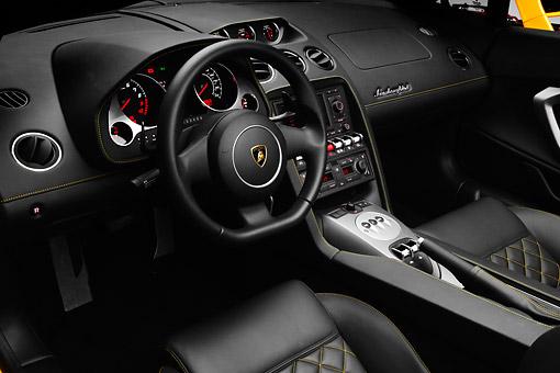 2012 Lamborghini Gallardo Lp 550 2 Spyder Yellow Interior Detail In