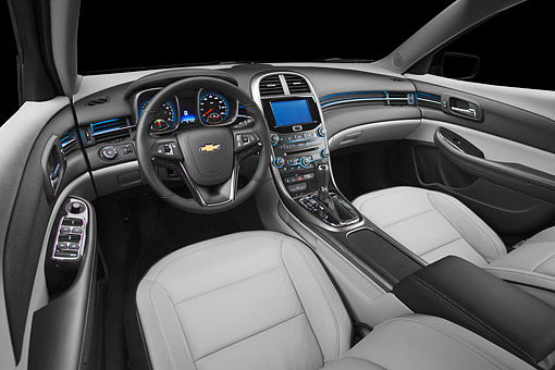 AUT 30 BK0220 01 © Kimball Stock 2013 Chevrolet Malibu Eco Interior Detail In Studio