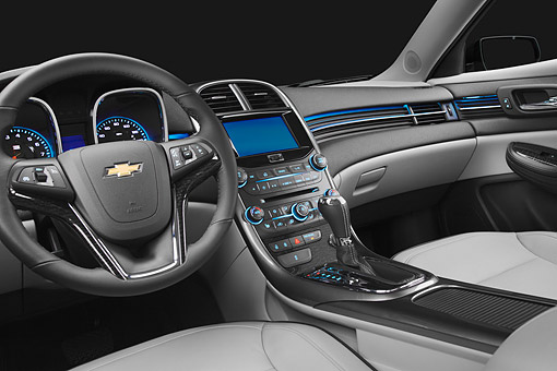 AUT 30 BK0221 01 © Kimball Stock 2013 Chevrolet Malibu Eco Interior Detail In Studio