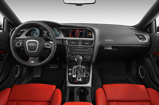 AUT 30 IZ0859 01 © Kimball Stock 2011 Audi S5 Coupe Gray Interior Detail Studio