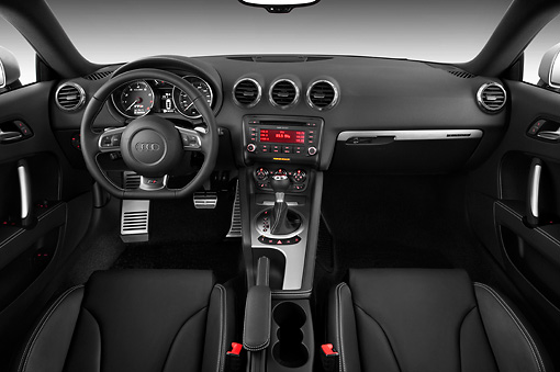 AUT 30 IZ0974 01 © Kimball Stock 2010 Audi TTS Coupe Black Interior Detail Studio